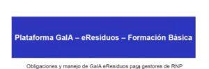 Información GaIA eResiduos-gestores RNP